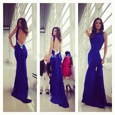 online get cheap fitted royal blue long evening dresses