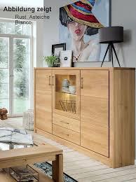 highboard 162x123x41 rustikale asteiche bianco geölt casade mobila