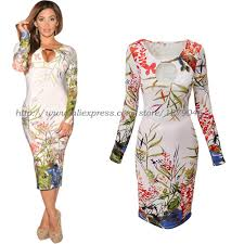 floral dress women bodycon