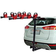 Ktaxon 4 Bike Hitch Mounted Hatchback Bike Rack - Vertical Bicycle ...