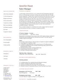 Sales Manager CV Example 2