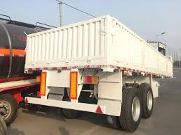100 Semi Truck Trailers China Hot Sale 3 Axle 40ft Flatbed Trailers With Side Wall Container
