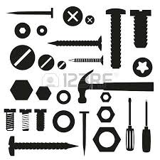 Nail head clipart black and white