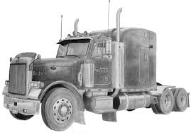 Peterbilt Semi Truck Drawings, Drawing Trucks | Trucks Accessories ...