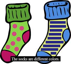 silly socks clipart