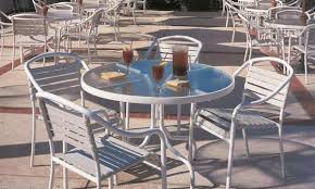 Vinyl Straps For Patio Chairs by Commercial Patio Furniture Commercial Dining Sets Patiosusa