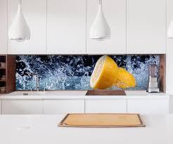aufkleber küchenrückwand zitrone wasser tropfen küche obst folie selbstklebend dekofolie fliesen möbelfolie spritzschutz 22a1227 wandtattoos und