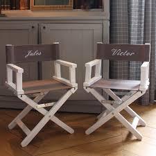siege metteur en cadeau naissance personnalisé chaise metteur en scène prénom brodé