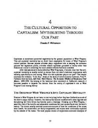 The Cultural Opposition To Capitalism
