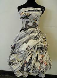 Creative Ideas Newspaper Beautiful Dress Art Craft Projects