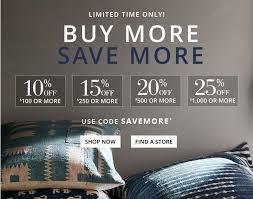 Pottery Barn Buy More Save More Event Save Up To  f Your