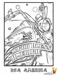 Patriotic Motorcycle Coloring At YesColoring America Pictures Printables