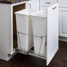 Under Cabinet Trash Can With Lid by Trash Can Pullout 11 Minute Organizers Organizers
