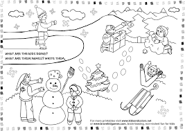Download Coloring Pages Winter For Kids Printable Free