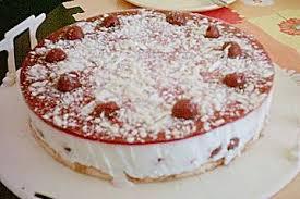 marmorierte kirsch joghurt torte