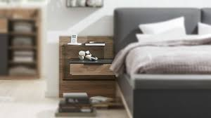 interliving schlafzimmer serie 1007 hängekonsolen set dunkle sanremo eiche mattschwarz zweiteilig