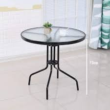 Amazon.com: WZF Tempered Glass Round Table And Chair ...