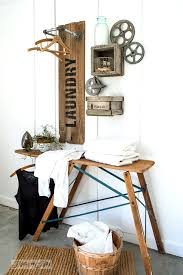 Creating An Industrial Farmhouse Reclaimed Wood And Pipe LAUNDRY Sign Hanging Station With Crate Shelves