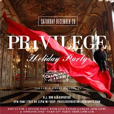 Privilege Saturday Dinner Party End Of Year Soiree At Chapman