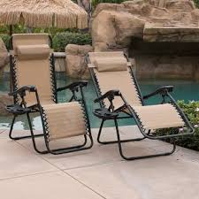 Stack Sling Patio Lounge Chair Tan by Outdoor Chaise Lounges For Less Overstock Com