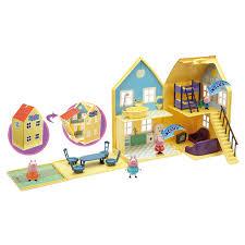peppa pig maison de luxe avec 2 personnages giochi king jouet