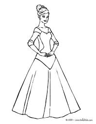 Sophisticated Princess Coloring Page