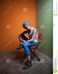 Cute Guy Sits In Chair Stock Image. Image Of Jack, England ...