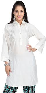 womens long kurti tunic top rayon cotton blouse indian clothes at