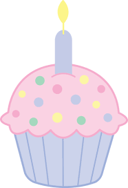 Pink Birthday Cupcake Clip Art 1664