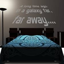 Star Wars Room Decor Uk by Star Wars A Long Time Ago Wall Decal Art Sticker Boy U0027s Bedroom