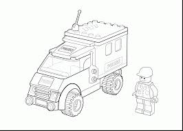 Impressive Lego Police Coloring Pages Printable With City And