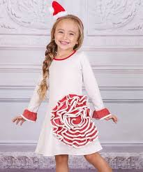 Ivory Red Rose A Line Dress