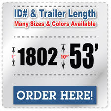 100 Stickers For Trucks Fleet Number Truck Decals Trailer Length Vehicle ID Number