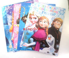New 10 Pcs Frozen Princess Kids Coloring Book Children Drawing Sketch Painting Graffiti Size 2720CM