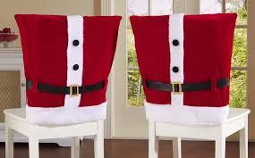 Pictures Of Red Santa Suit Holiday Dining Chair Covers Iojdoay