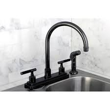 Overstock Bronze Kitchen Faucets by Black Nickel Two Handle Kitchen Faucet Free Shipping Today