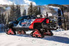 Diadon Enterprises - GMC Unveils Sierra 2500HD All Mountain: A ... Sema 2004 Video Ford F350 Uses Tracks Not Tires To Spin A Big Burnout 1987 Suzuki Samurai Snow Picture Supermotorsnet Vehicles Jeep Cherokee On Ultimate Ice Truck Jeep Pinterest Custom Rubber Tracks Right Track Systems Int Crazy Rc Semi Truck 6wd 5 Motors Pure Power Semitruck Old Rubbish Crossing Stock Photo Edit Now Shutterstock Trucks At Twitter Itll Be Sweet Trip Back Model T With By Futurewgworker Deviantart For Cars And Best Resource Tire Vector Free Trial Bigstock Fc170 Pickup Has Hemi V8 And Acid Green Paint