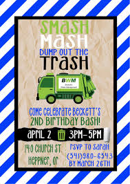 Printable Garbage Truck Birthday Party Invitation | Maddox Turns 3 ... Cstruction Birthday Party Decorations Dump Truck Boys Fearsome Allenjoy Background For Birthday Otograph Banner Stay At Homeista Invitation Wording For Best Boy Diggers Donuts Cake Ideas Supplies Janet Flickr 20 Luxury Birthdays Wishes B82 Youtube Themed Elis Bob The Builder 2nd