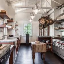White Country Kitchen With Antique Island
