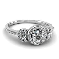 Cool Antique Style Engagement Diamond Rings Pave Set