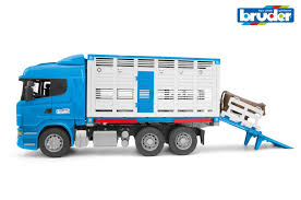 100 Bruder Logging Truck 116 Scania RSeries Cattle Transportation Truck W1 Cattle
