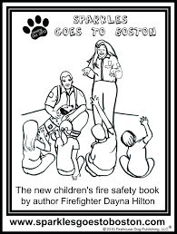 Fire Safety Coloring Pages Print Kids Truck Free Sparky Dog Printable The Sheets Full Size