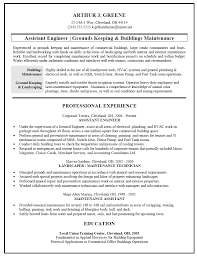 Building Maintenance Resume Samples 4 Fancy Inspiration Ideas Examples Of Resumes 20