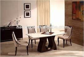 Eight Piece Dining Room Set 8 Person Table Unique White Marble Kitchen Od