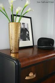 Waterfall Vanity Dresser Set by Vintage Waterfall Dresser In Lamp Black And Candlelite Saw Nail