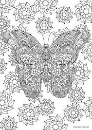 Butterfly Printable Adult Coloring Page