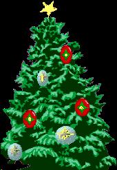 Animated Christmas Tree Animation With Twinkling Lights