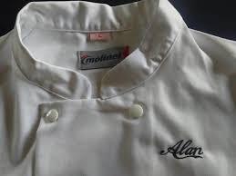 broderie veste de cuisine veste de cuisine brodée d un prénom avec la nouvelle d