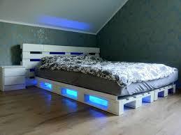 Modern Ideas Pallet Bedroom Furniture Light Pallets Bed DIY