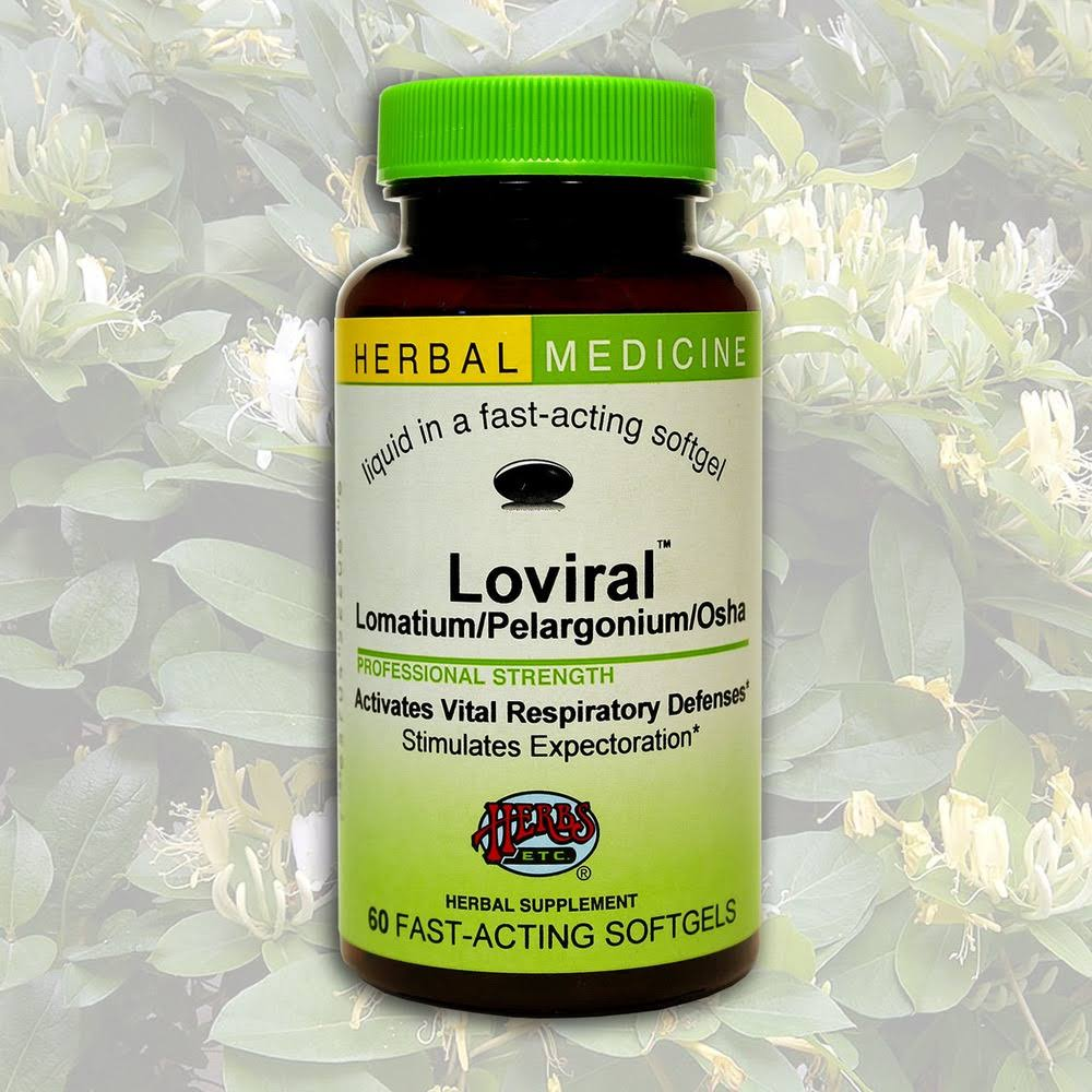 Herbs Etc Loviral - 60 - Softgel